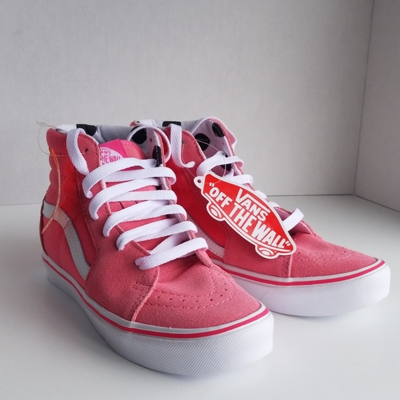 2d4722fd5b1faf NWT Vans Off The Wall Pink Skate Lightweight 3Y